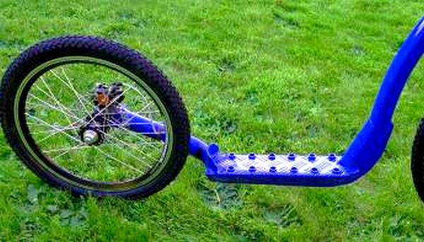 trottinette Rower-Land Alu Race Mono, détail partie arrière