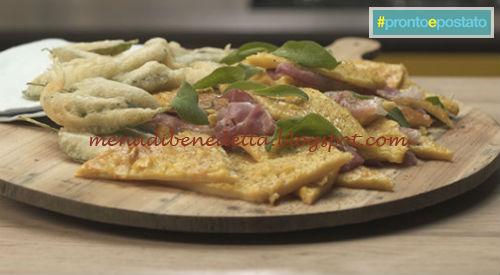 Pronto e postato - Millefoglie di farinata ricetta Benedetta Parodi