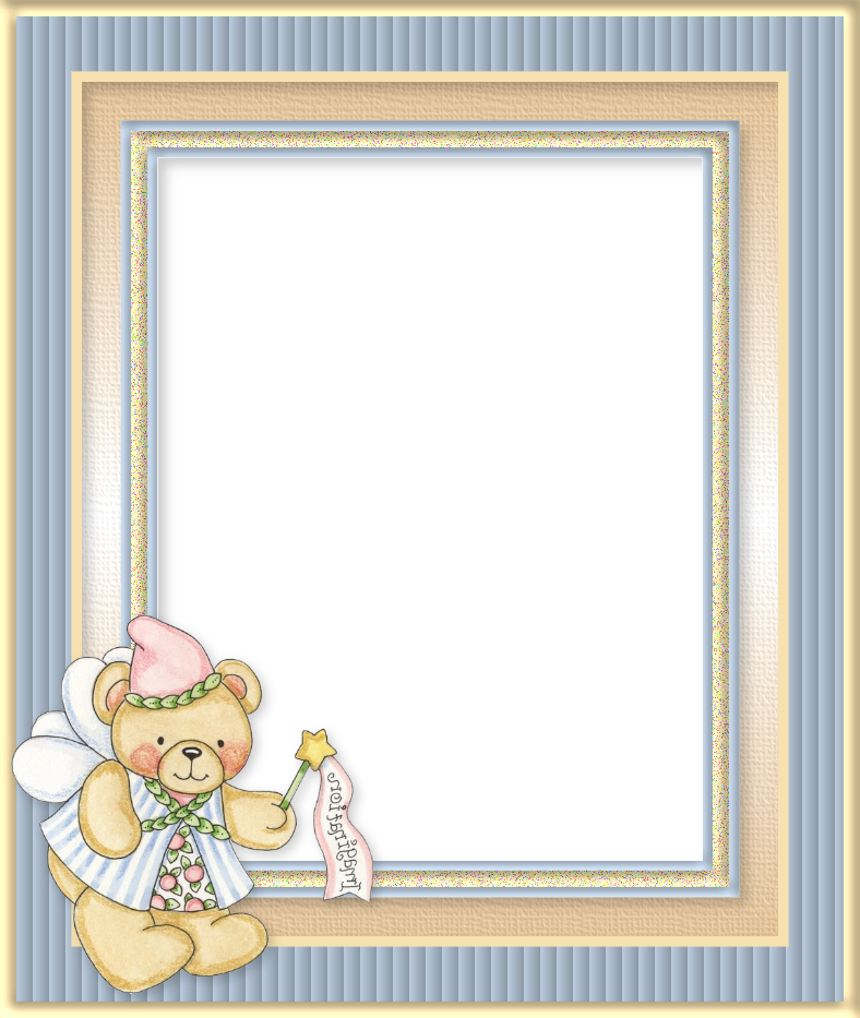 Bears with Wings Free Printable Frames.