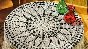 Mantel circular de hermoso diseño
