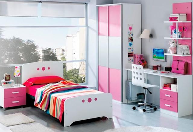 desain kamar tidur anak perempuan sederhana paling elegan