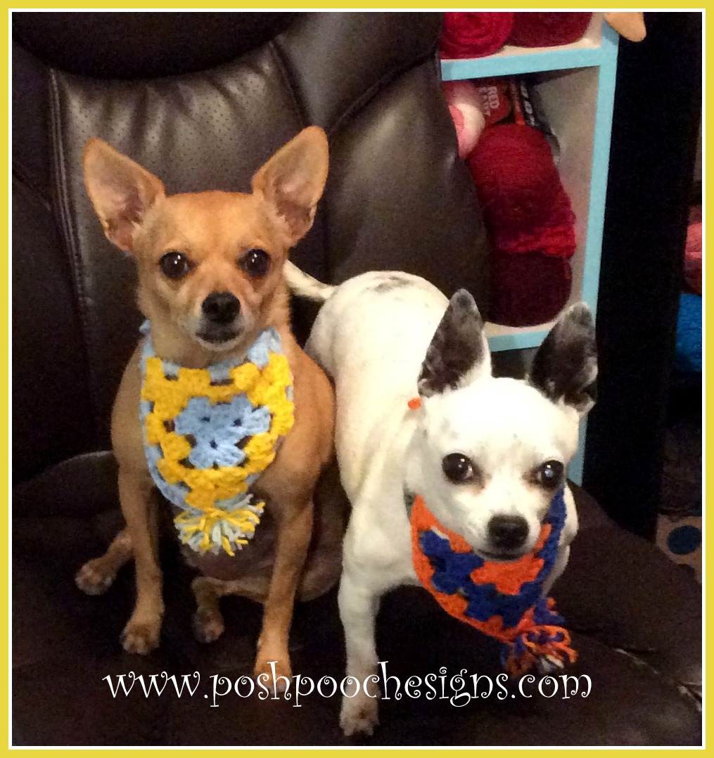 7b515fd7441 Pennant Dog Bandanna Crochet Pattern By Sara Sach of. Posh Pooch Designs