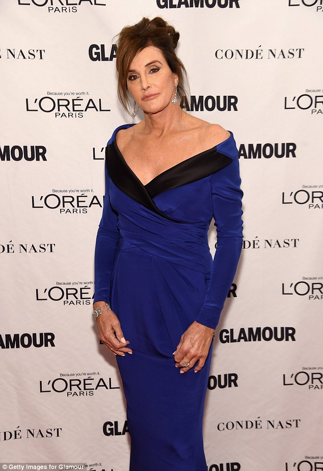 Caitlyn Jenner Wears Gown Displaying His Chest At Glamour