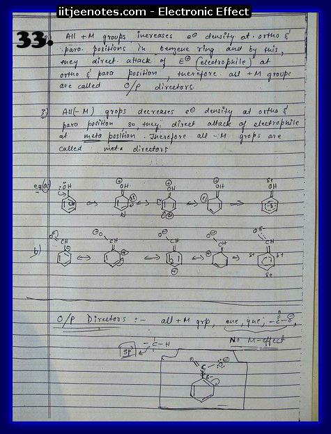 Electronic Effect Notes IITJEE3