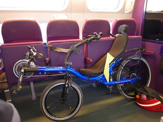 Vélodyssée - Vélo couché en TGV