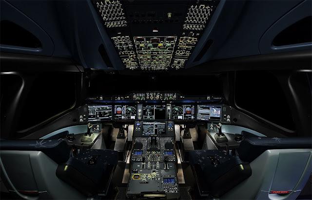 Airbus A350 XWB Cockpit Layout