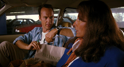 Michael Keaton (left) with Pam Grier in Quentin Tarantino's Jackie Brown