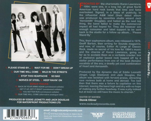 1994 - Please Stand By... [Rock Candy remastered +4] back