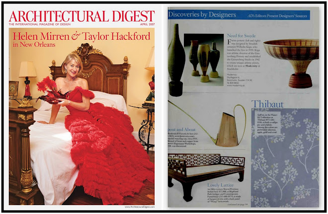 "Highland Park in Architectural Digest, April 2007 ""Discoveries by Designers: Lovely Lattice"""