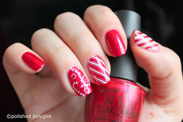 Nail art │ Candy cane nails