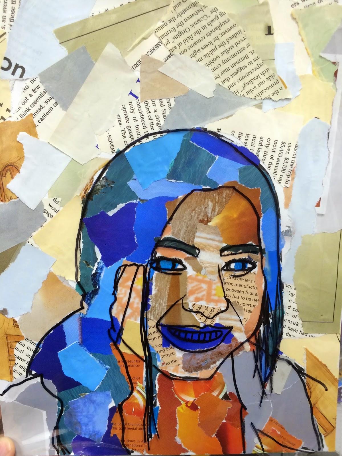 Project Art A Day Lesson Color Scheme Selfies