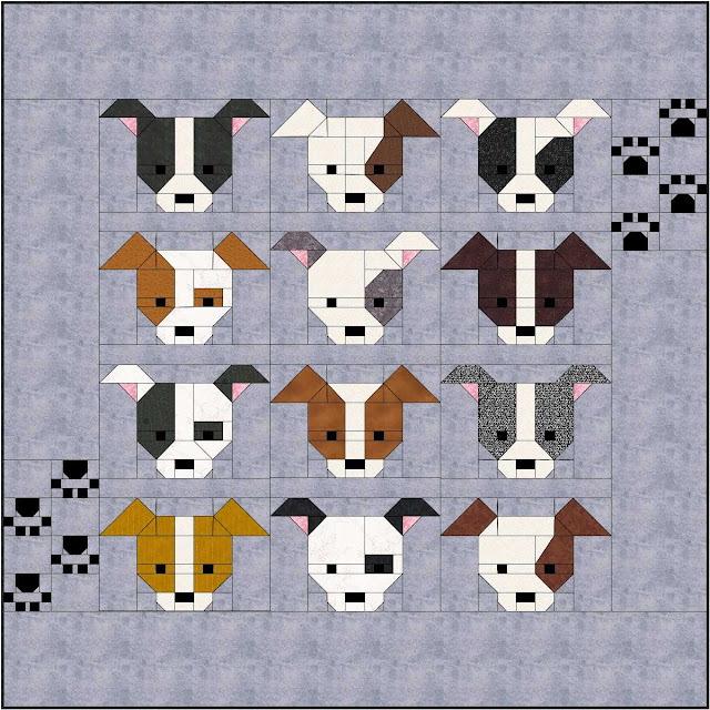 Sew Fresh Quilts Dog Gone Cute Paw Print Bonus Border