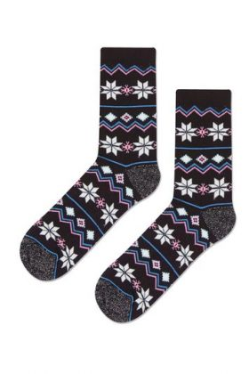 Christmas Fairisle Socks – Black