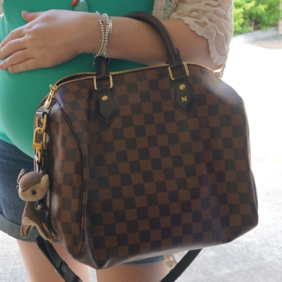 AwayFromTheBlue | Louis Vuitton Damier Ebene speedy bandouliere cross body bag 30