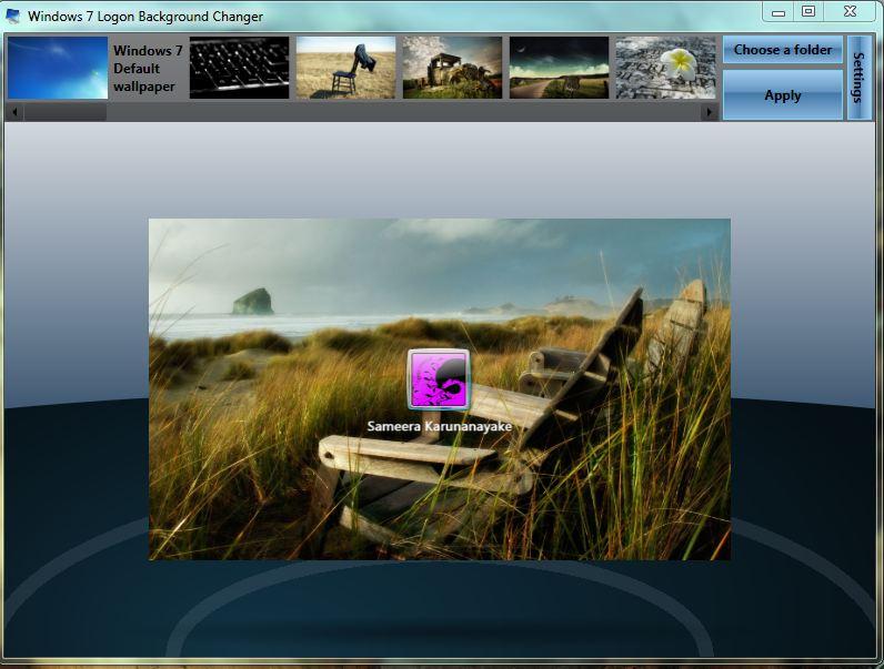 Electro owl win7 logon background changer - Windows 7 wallpaper changer software ...