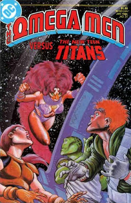 cover of The Omega Men #34 (1986). Property of DC comics.