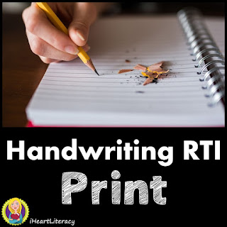 Handwriting RTI Practice Sheets and Tests - Print #handwriting #writing #ela #3rdgrade #4thgrade #5thgrade #6thgrade #7thgrade #8thgrade #9thgrade