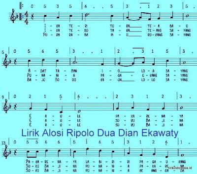 Lirik Alosi Ripolo Dua Dian Ekawaty