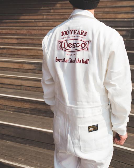 1911 年創業のワークウエア・トップブランド『山田辰』と、共に100 年の歴史を有するウエスコがコラボーレションしたつなぎ服が完成しました!