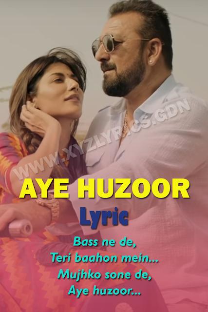 AYE HUZOOR SONG LYRIC | Saheb Biwi Aur Gangster 3 | Sunidhi Chauhan | Shaan | Video