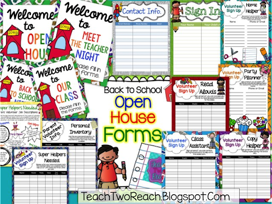 Open House Forms - Freebie