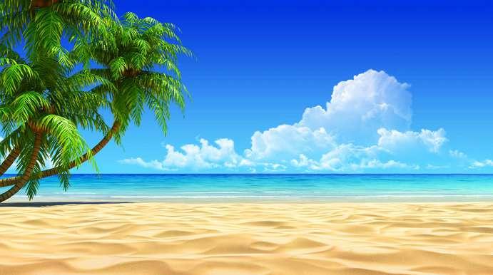 41 pemandangan indah pantai kartun HD Terbaik