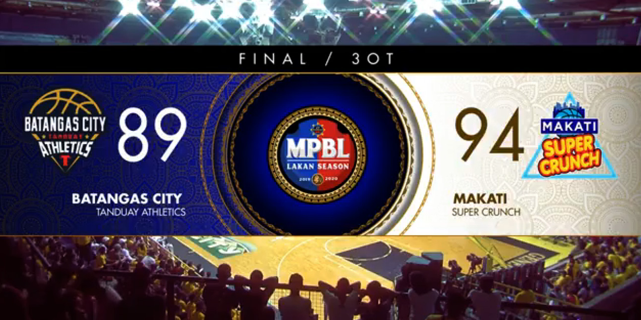Makati def. Batangas, 94-89 in Triple Overtime (REPLAY VIDEO) Nov 28 | MPBL