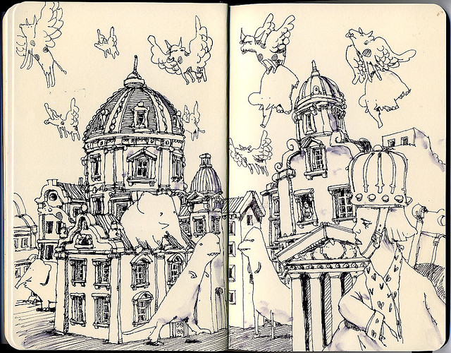 10-Dark-Days-Mattias-Adolfsson-Surreal-Architectural-Moleskine-Drawings-www-designstack-co