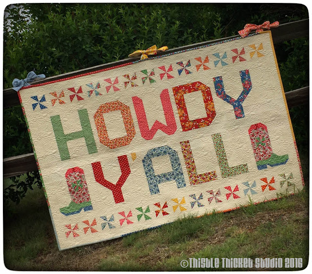 Thistle Thicket Studio, Howdy Y'all Quilt, cowboy boot block, Moda Bake Shop recipe