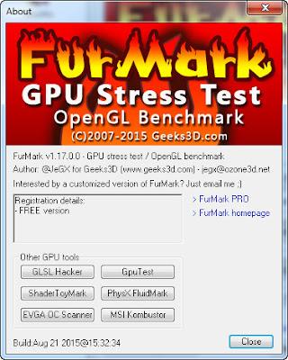 FurMark v1.17.0.0 GPU Stress Test