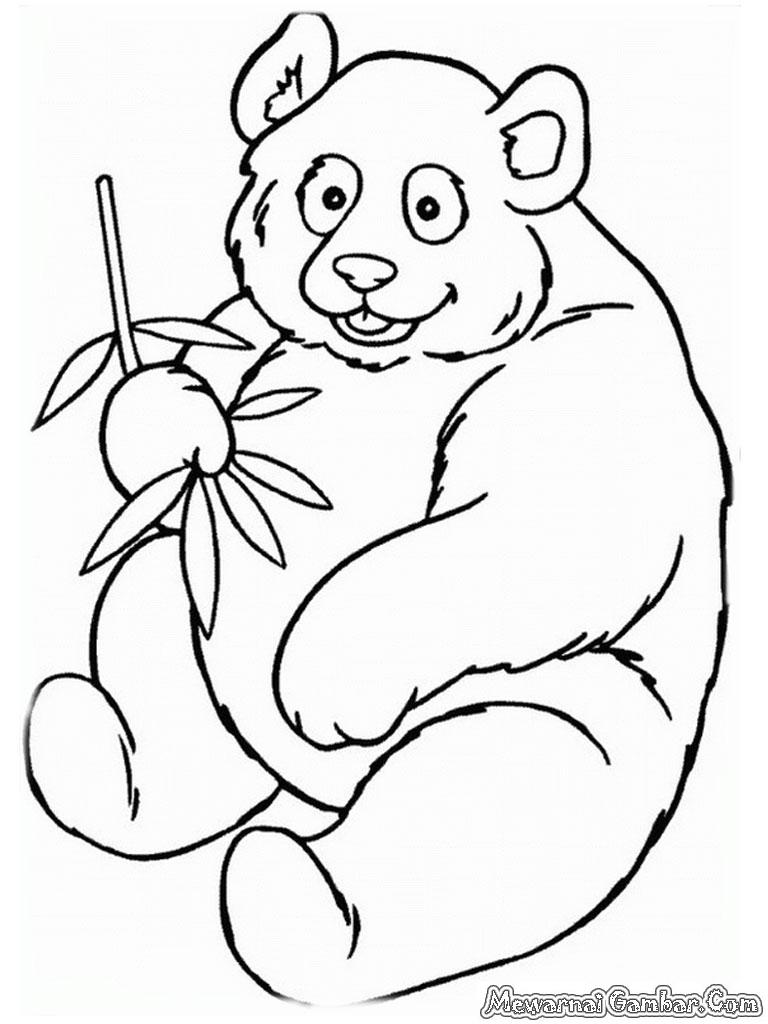 Free Gambar Polos Mewarnai Gambar Panda