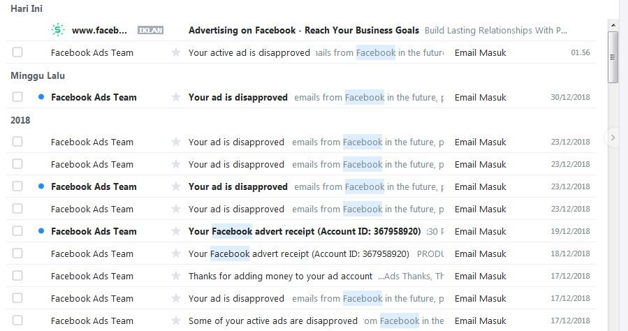 Kenapa Iklan Facebook Selalu Di Tolak?