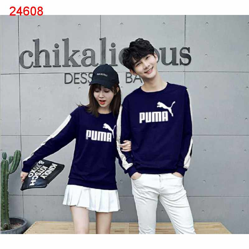 Jual Sweater Couple Sweater Puma Stripe Navy - 24608