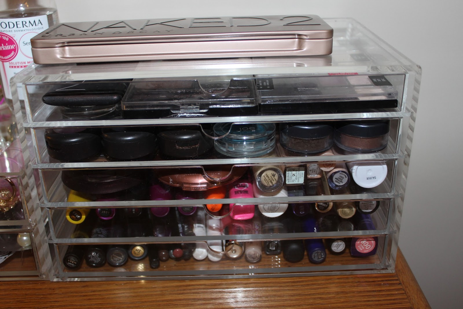 Makeup Storage Containers Belle Eve My Makeup And Storage Collection Muji Containers