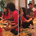 New photos of 15 year old Blanket Jackson emerge as he is seen dining with his sister Paris and Uncle TJ