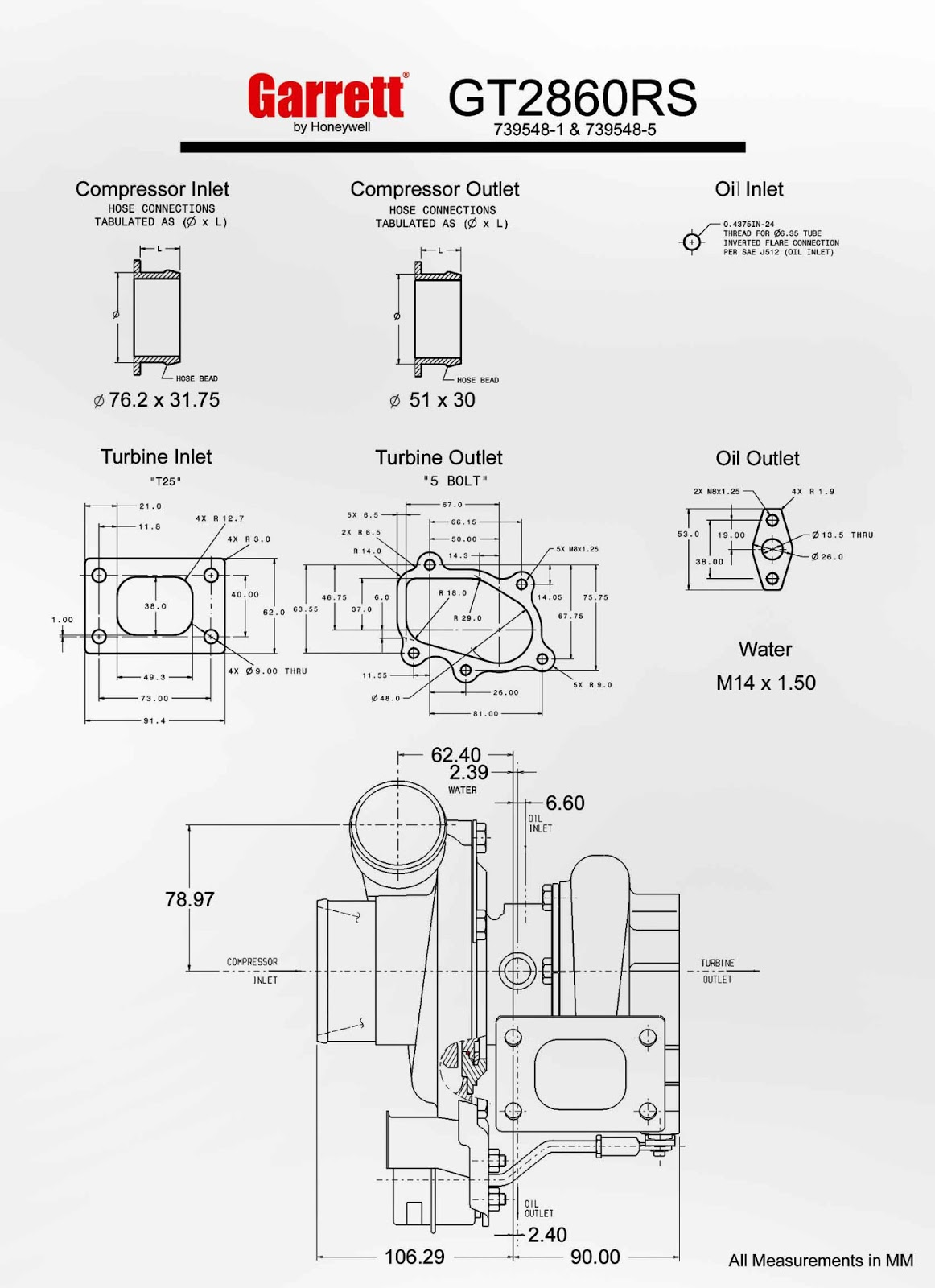 hight resolution of the measurements and turbo flange drawings can be viewed in fullscreen