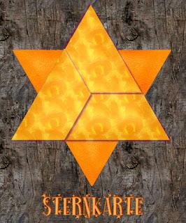 geschlossene Sternkarte aus Designpapier
