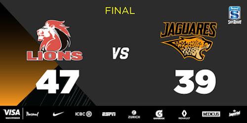 Caída de Jaguares ante Lions en Johannesburgo