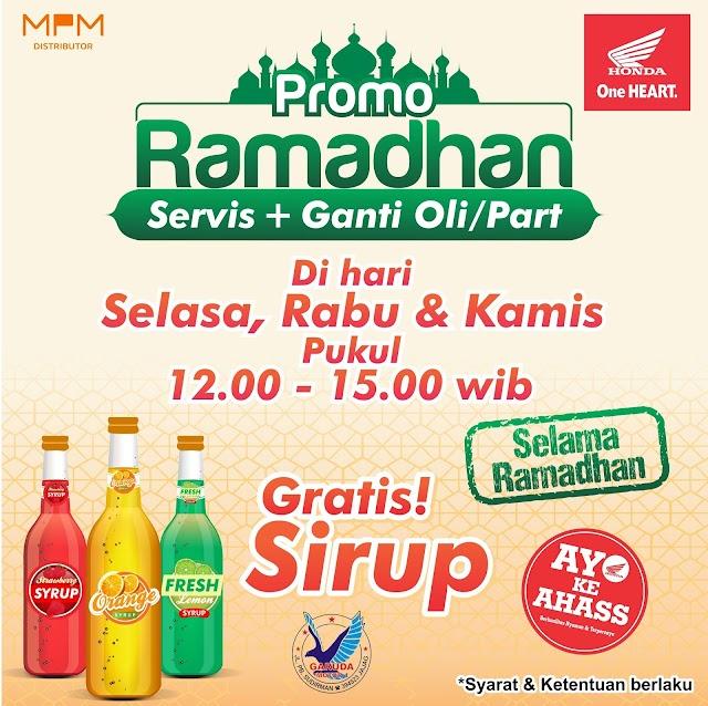 Service Di Ahass Bulan Ramadhan Gratis Sirup