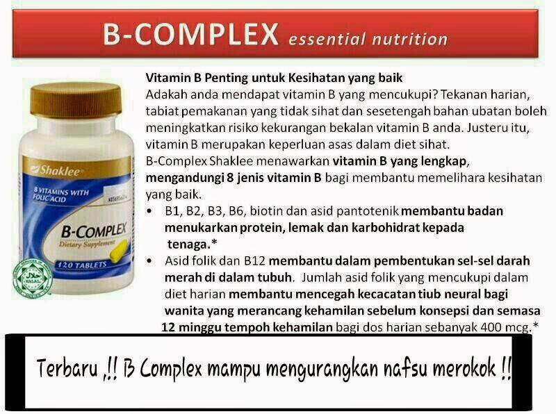 B-Complex, Pengedar Shaklee Rawang, Resepi Minda Cergas