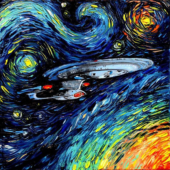 05-USS-Enterprise-Star-Trek-Aja-Trier-Vincent-Van-Gogh-Paintings-and-a-Sprinkle-of-Pop-Culture-www-designstack-co