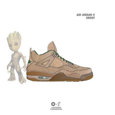 Groot x Nike Air Jordan 4