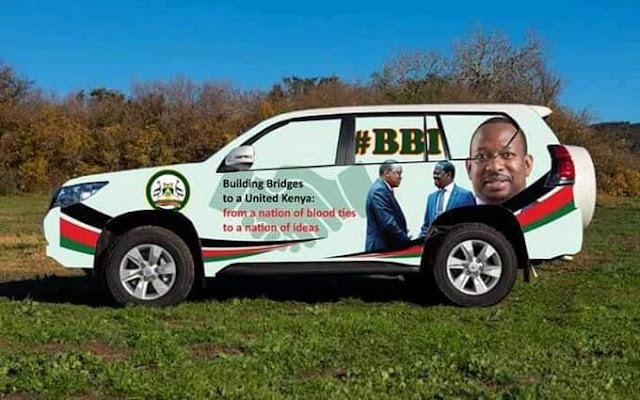 Governor Mike Sonko brands cars for BBI rallies. PHOTO | BMS