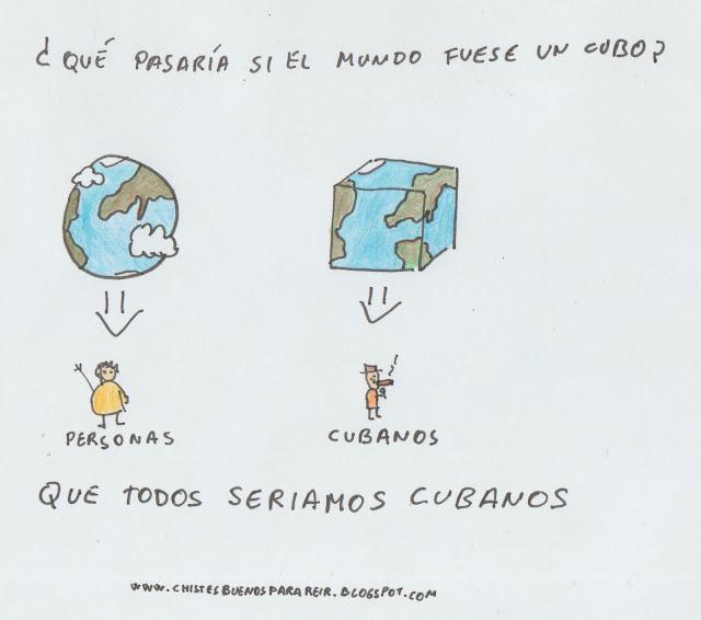 ¿Qué pasaría si el mundo fuese un cubo? Que todos seríamos cubanos.