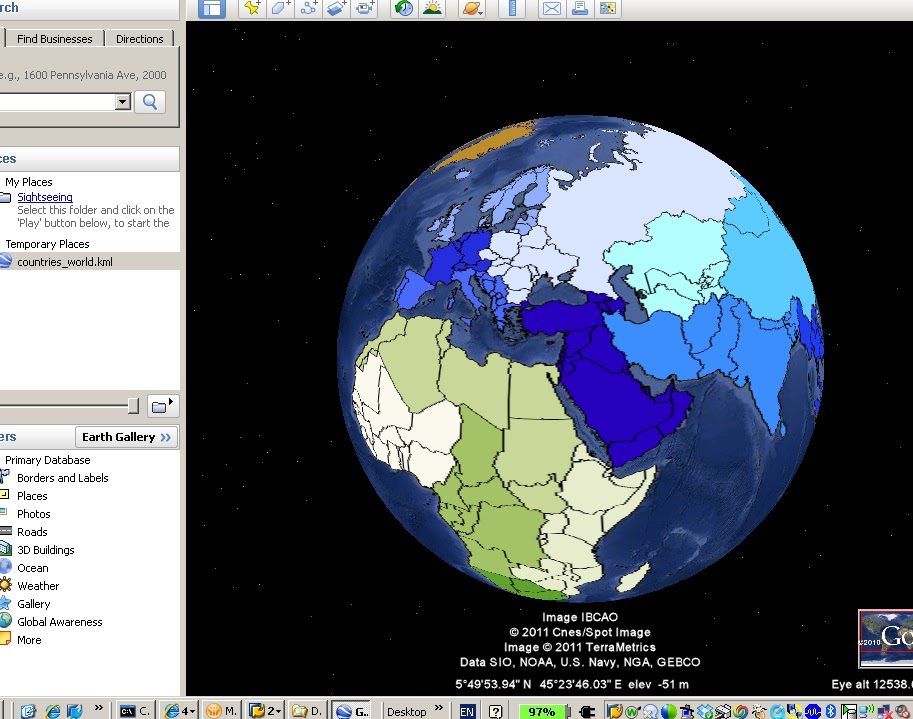 A Basis Life: Free: Countries of the world in a Polygon KML file