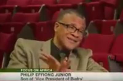 Listen to Phillip Effiong Jr, the son of vice president of Biafra late 'Gen Phillip Effiong