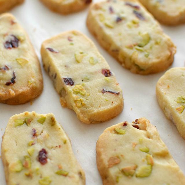 Galletas de pistachos y cramberries
