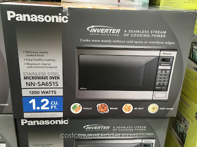 Costco 657723 - Panasonic NN-SA651S Stainless Steel Microwave Oven - sleek design for the modern kitchen