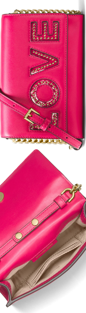 MICHAEL Michael Kors Ruby Love Polished Leather Clutch