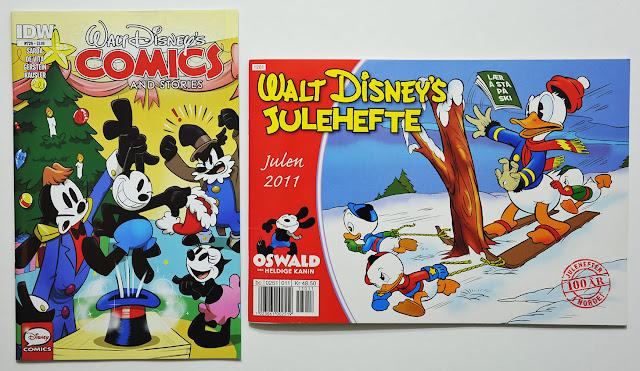 "Cover of IDW's WDCS #726 and the Norwegian ""Walt Disney's Julehefte 2011"""
